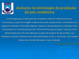 Avanços na tecnologia de produção de pós cerâmicos
