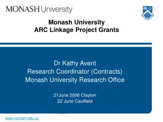 Monash University ARC Linkage Project Grants