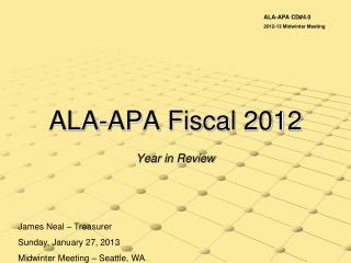 ALA-APA Fiscal 2012