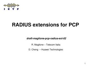 RADIUS extensions for PCP