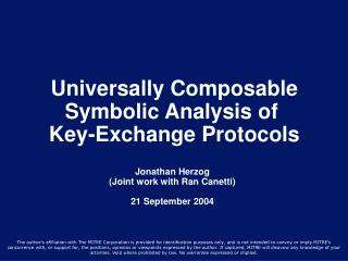Universally Composable Symbolic Analysis of  Key-Exchange Protocols