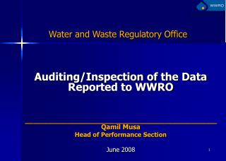 Water and Waste Regulatory Office