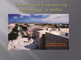 Information Engineering Technology at NMSU