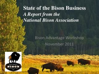 State of the Bison Business A Report from the  National Bison Association