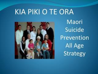 Maori  Suicide Prevention All Age Strategy