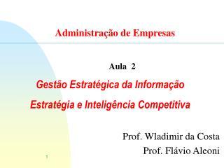 Gest o Estrat gica da Informa  o  Estrat gia e Intelig ncia Competitiva
