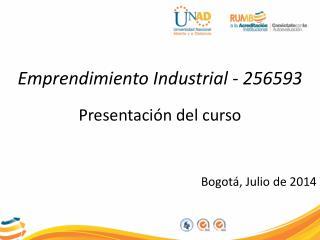 Presentación del curso Bogotá, Julio de 2014