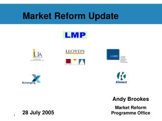 Market Reform Update