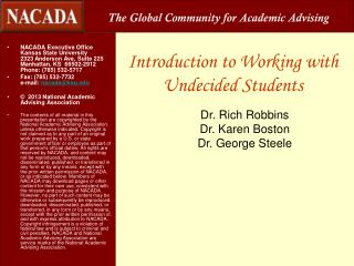 Introduction to Working with Undecided Students