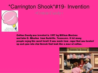 *Carrington Shook*#19- Invention