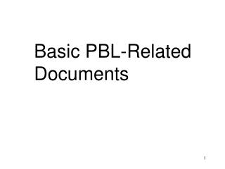 Basic PBL-Related  Documents
