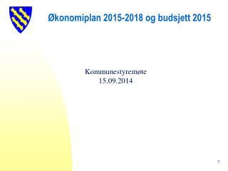 Økonomiplan 2015-2018 og budsjett 2015