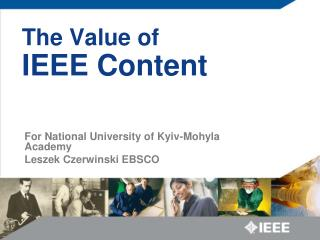 The Value of  IEEE Content