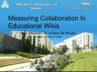Measuring Collaboration In Educational Wikis