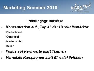 Marketing Sommer 2010