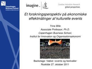 Et forskningsperspektiv på økonomiske effektmålinger af kulturelle events