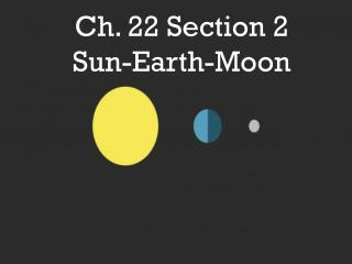 Ch. 22 Section 2 Sun -Earth- Moon