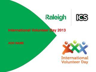 International Volunteer Day 2013