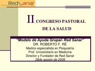 II CONGRESO PASTORAL    DE LA SALUD