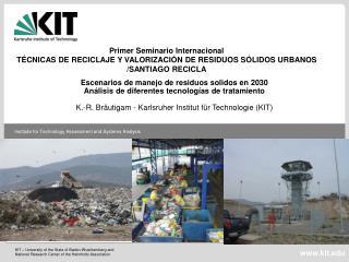 Escenarios de manejo de residuos solidos en 2030 Análisis de diferentes tecnologías de tratamiento