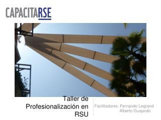 Taller de Profesionalización en RSU