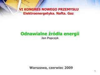 Odnawialne źródła energii Jan Popczyk