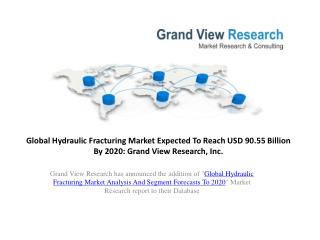 Hydraulic Fracturing Market ForecastTo 2020