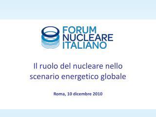 Roma, 10 dicembre 2010