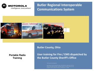 Butler Regional Interoperable Communications System