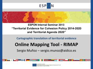 Cartographic translation of territorial evidence Online Mapping Tool - RIMAP