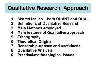 Qualitative Research  Approach