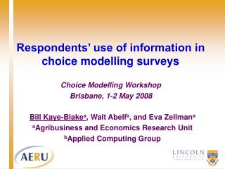 Respondents' use of information in choice modelling surveys
