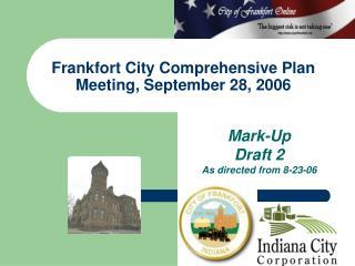 Frankfort City Comprehensive Plan Meeting, September 28, 2006