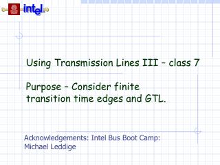Using Transmission Lines III – class 7