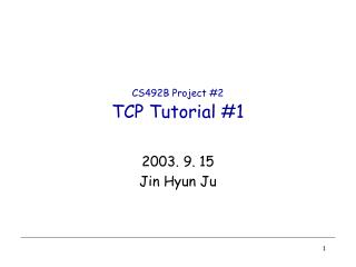CS492B Project #2 TCP Tutorial #1