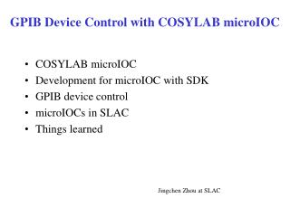 GPIB Device Control with COSYLAB microIOC