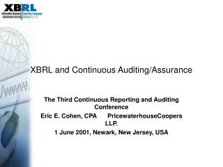 XBRL and Continuous Auditing/Assurance