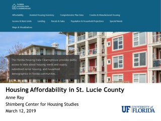 South Florida Workforce Housing Needs Assessment