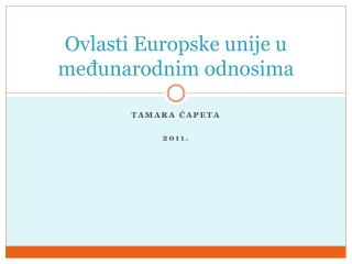Ovlasti Europske unije u međunarodnim odnosima