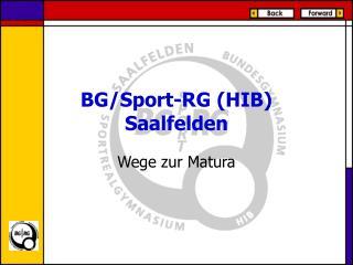 BG/Sport-RG (HIB) Saalfelden