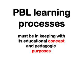 PBL learning processes