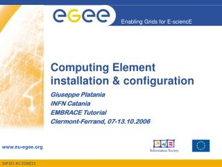 Computing Element installation & configuration