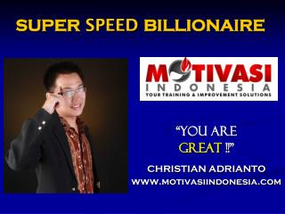 SUPER  SPEED  BILLIONAIRE