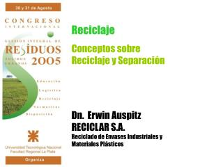 Conceptos sobre  Reciclaje y Separación
