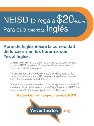 Aprende Inglés desde la comodidad  de tu casa y en tus horarios con Yes al Inglés.