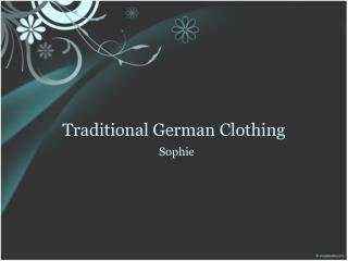 Traditional German Clothing