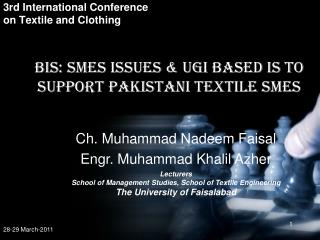 3rd International Conference on Textile and Clothing