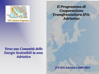Verso una Comunit  delle Energie Sostenibili in area Adriatica