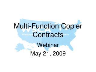 Multi-Function Copier Contracts