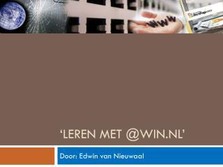 'Leren met @win.nl'